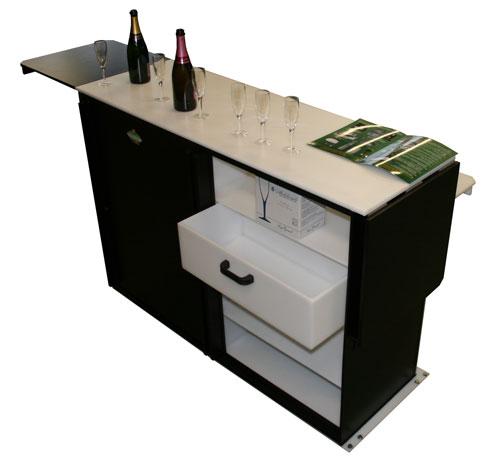 Bar pour stand d'exposition