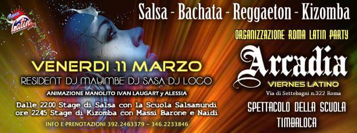 Arcadia: Viernes Latino! 11/03/2016