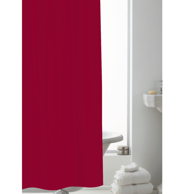 heavy duty shower curtain liner 178x183cm red