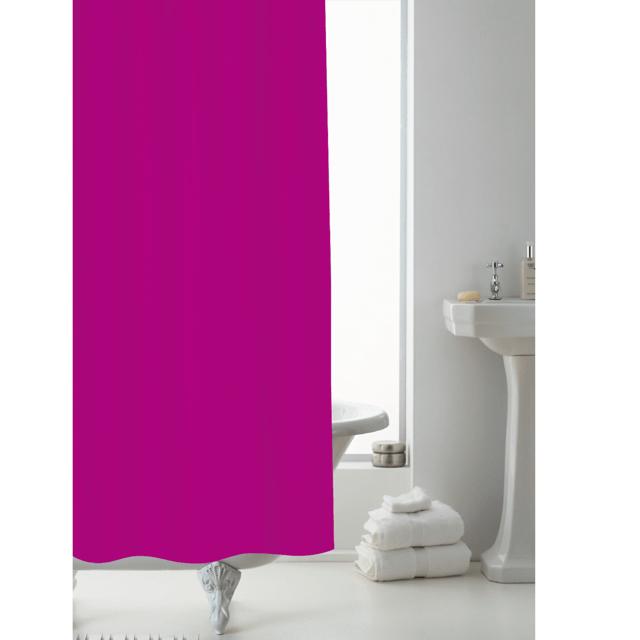 heavy duty shower curtain liner 178x183cm fuschia