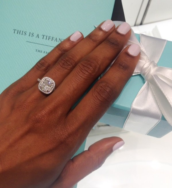 Tiffany Cushion Cut Diamond with Pave Halo