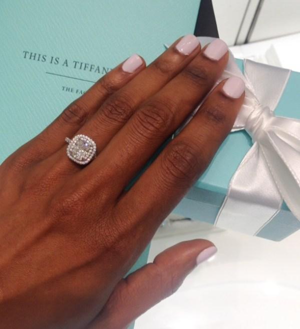 Tiffany Cushion Cut Diamond with Pave Halo