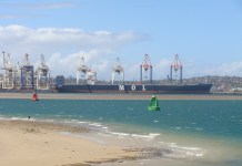 MOL Container Vessel calling at Port of Durban