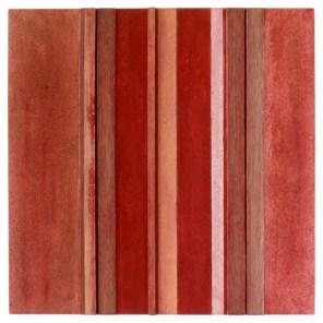 #02 | 50 x 50 cm | óleo sobre tabla y listones de madera de sapelli y limoncillo