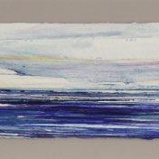 07 azul-violeta | enmarcado, 25 x 65 cm