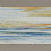 06 naranja-azul | enmarcado, 25 x 65 cm