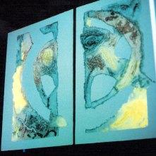 Eros | grabado bajo luz azul · presentado en la sala Eros | 4 x 8 metros
