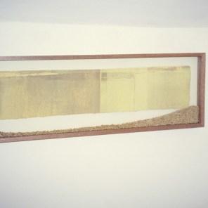 grabado en vitrina con trigo | 15 x 62 cm | edición 3 ejemplares +1P.A.