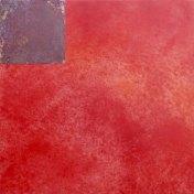 faro IV | 100 x 100 cm | óleo sobre tela y chapa de latón