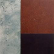 muelle III | 100 x 100 cm | óleo sobre tela y chapa de hierro