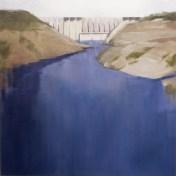 presa de Alcántara | 100 x 100 cm | óleo sobre tela