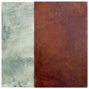 muelle VI   50 x 50 cm   óleo sobre tela y chapa de hierro
