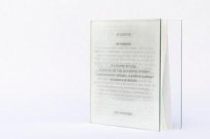 Libro de artista · as palavras - las palabrasTexto José Saramago · open cover