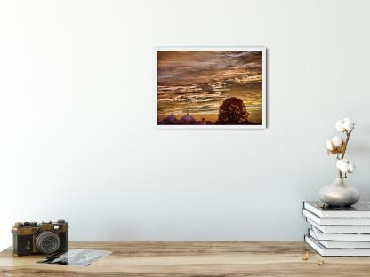 Gurdwara in Sunset wall art picture. Style option PT05. Sample picture