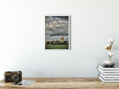 12th Century Castle Keep Wall Art Picture. Style option PT01 sample picture
