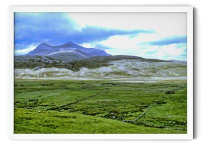 PT02: In the Shadow of a Twin Peak Mountain. Landscape photograph wall art picture