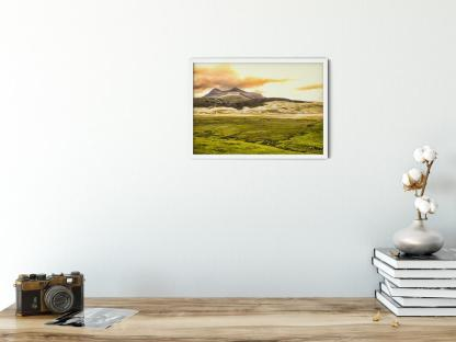 In the Shadow of a Twin Peak Mountain Wall Art Picture style PT00 Sample