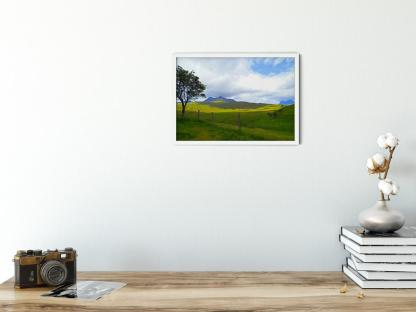 Strathcanaird in the Feet of Twin Peak Mountain Wall Art Picture. Picture style option PT03. Sample picture