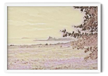 PT29: Lonely Defender of the Channels. Watercolour in pink wall art picture