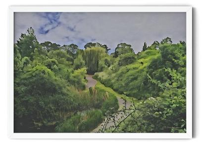Gordon Gardens Wall Art Picture, style PT02: Watercolour