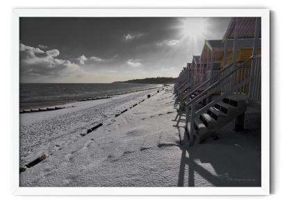 Winter Morning on Minster Leas Beach Wall Art Picture, style PT00
