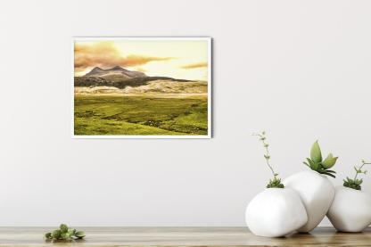 """In the Shadow of a Twin Peak Mountain Wall Art Picture (16.5"""" x 11.7"""")"""