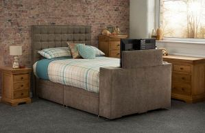 Sweet Dreams Image Classic Upholstered TV Bed