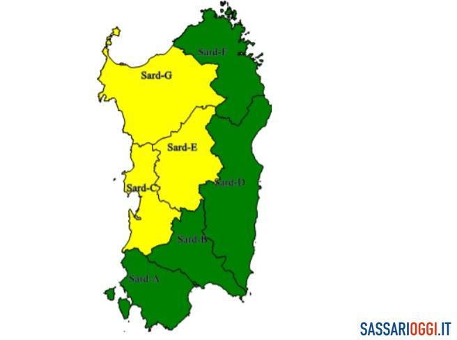 Ancora maltempo a Sassari e provincia: nuova allerta meteo della Protezione civile
