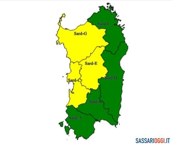 Ancora maltempo a Sassari e provincia, nuova allerta meteo della Protezione civile