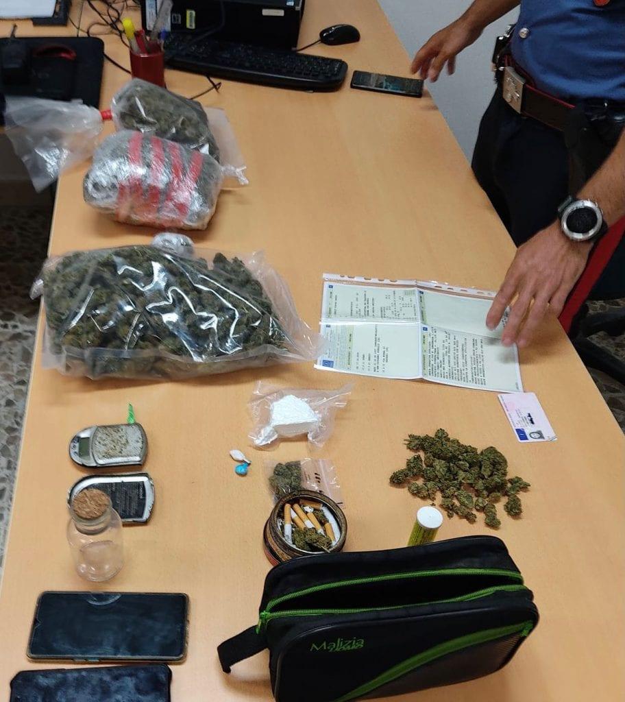 Trovato con oltre un chilo di marijuana e cocaina: arrestato un 35enne di Sorso