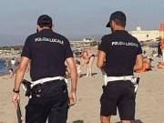 Polizia Locale Sassari in spiaggia