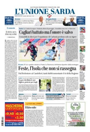 Prima Pagina Unione Sarda 6 luglio