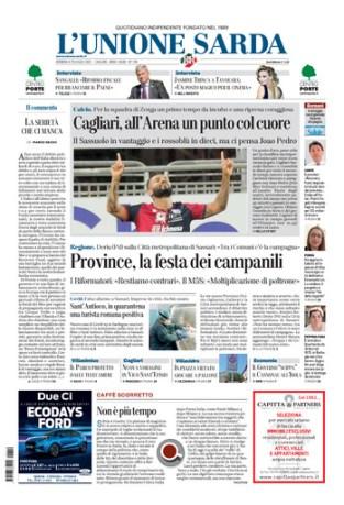 Prima pagina Unione Sarda 19 luglio
