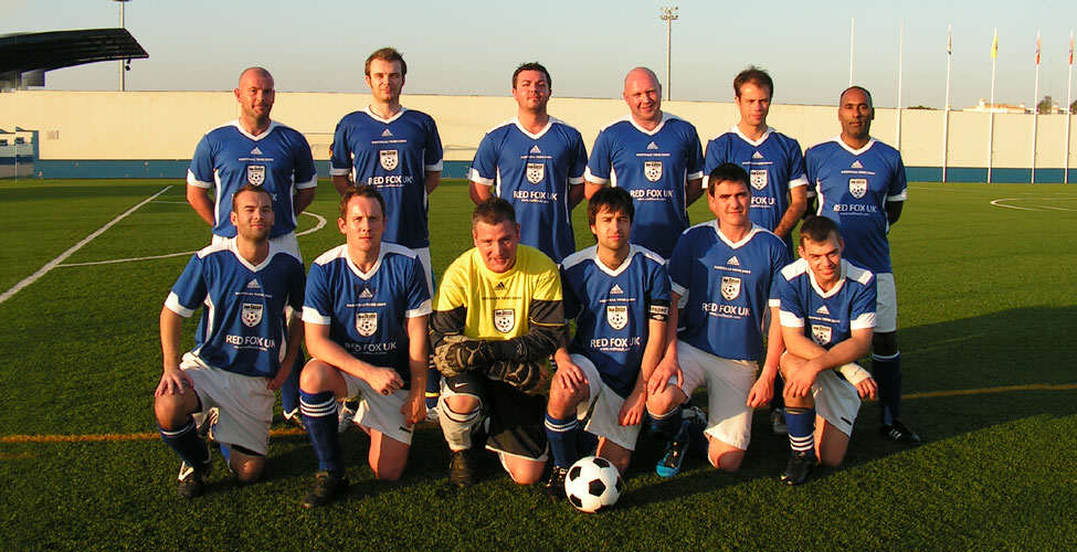 The team lined up before the controversial win over FC Ferreiras.