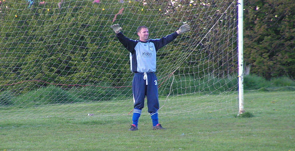 Sassco conceding six goals? No wonder, with MC Hammer in goal wearing non-Adidas track bottoms.