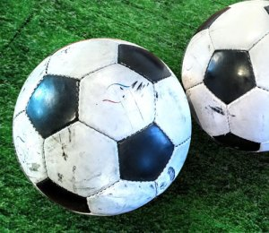 Real footballs. Not your Mitre or Nike Premier League shite. Vintage balls as used in the 70's in foggy Eastern European, Iron Curtain countries.