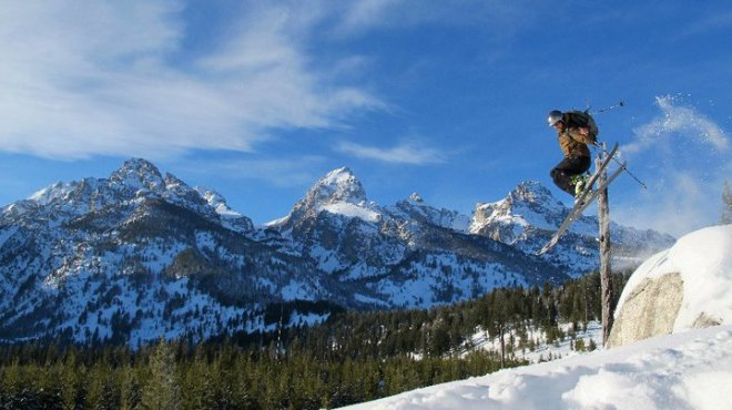 Nick Gillespie Skiing Wyoming
