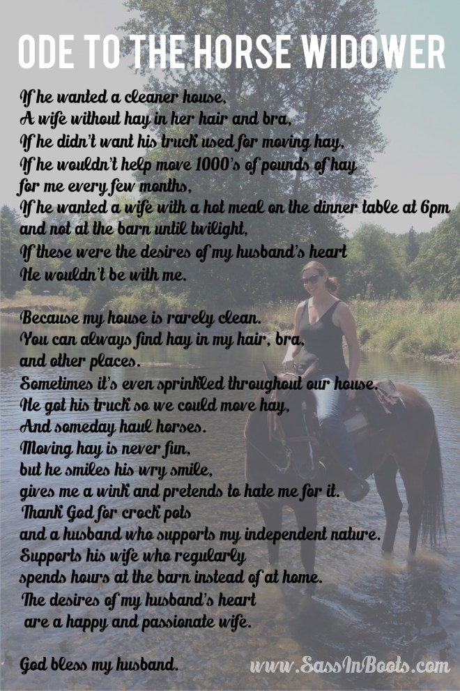 Ode To The Horse Widower Poem