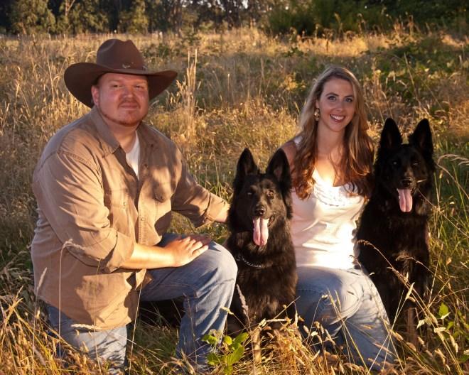 German Shepherd Dogs in Engagement Photo