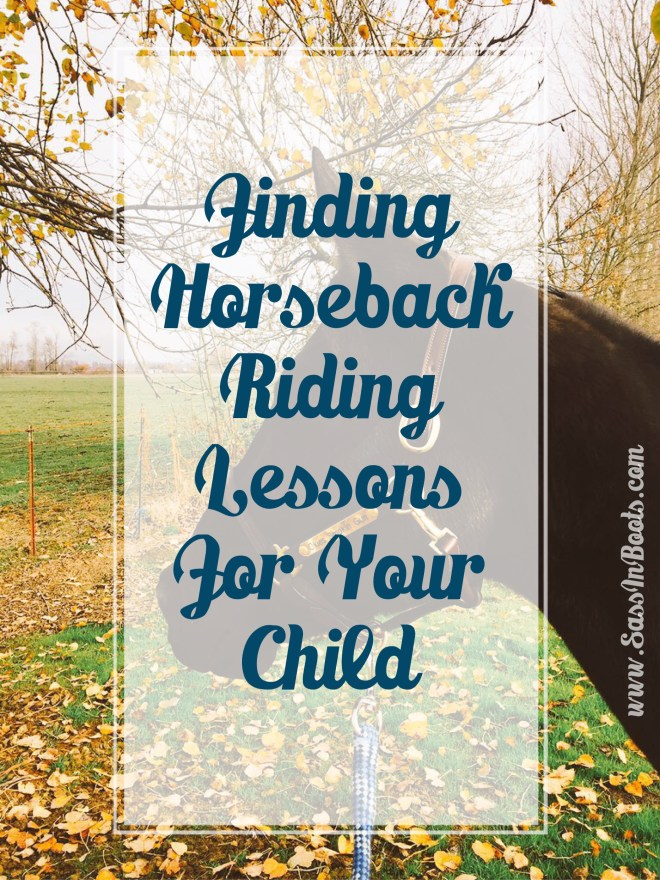 Finding Horseback Riding Lessons For Your Child