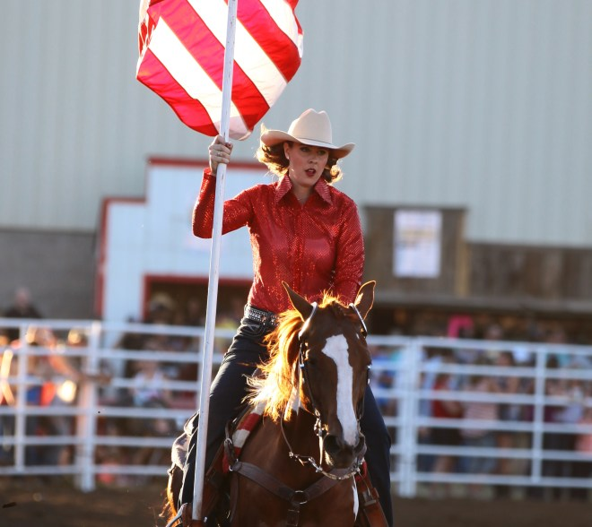 Fourth of July Rodeo American Flag Queen
