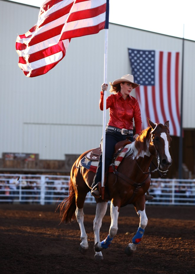 American Flag Rodeo Run