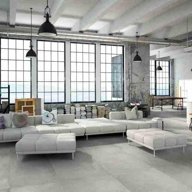 Grès porcellanato effetto cemento collezione Intonaco