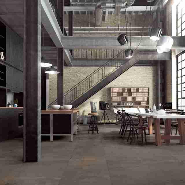 Grès porcellanato effetto cemento collezione Metallic