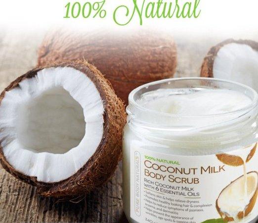 pure body naturals coconut milk body scrub - sassycritic blog review