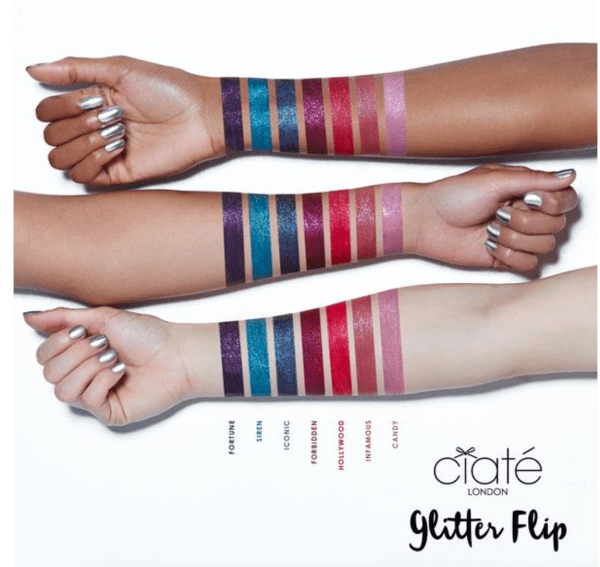 Ciate London Glitter Flip Swatches & Review - Sassy Critic.com