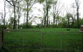 Parker Cemetery on the Spoon River, Knox County, Illinois