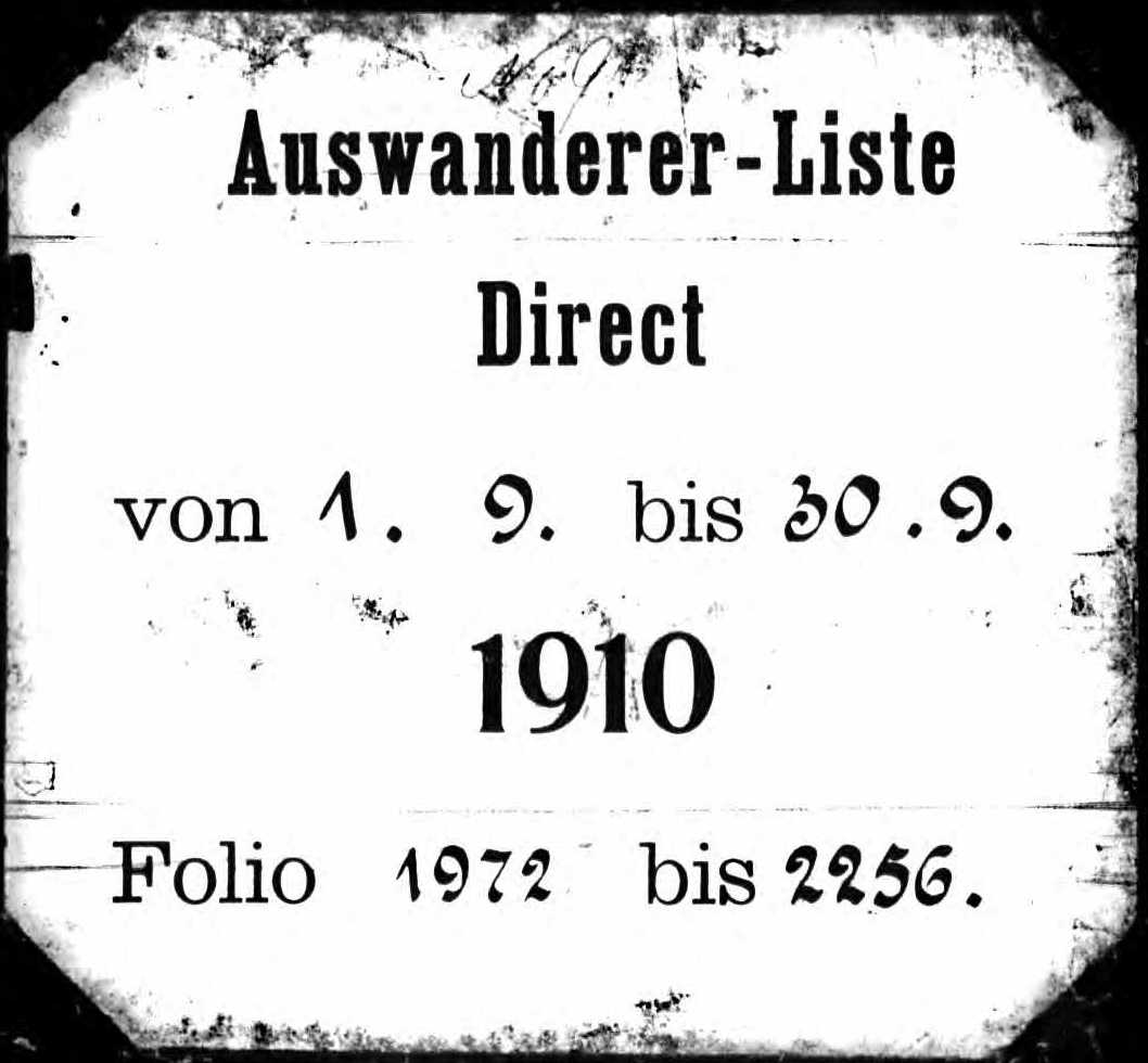 Using Hamburg Passenger Lists, 1850-1934
