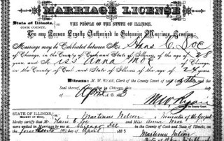 Loe-Moe Marriage License