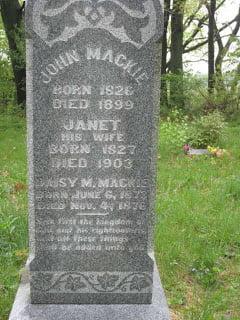 sassy jane genealogy John Mackie and Janet Mackie illinois knox county